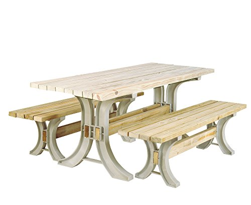 (2x4basics 90182ONLMI Custom Picnic Table Kit, Sand )