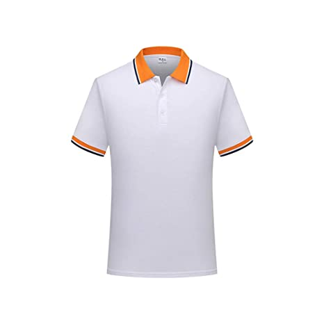 YFLTP Polo para Hombre - Liso XL de Color Liso, White_L: Amazon.es ...