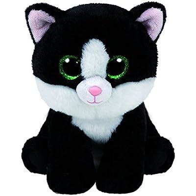 Carl etto Ty 90246Ava Glitter Eye Pink Cat, Beanie, 28cm, Black/White: Toys & Games