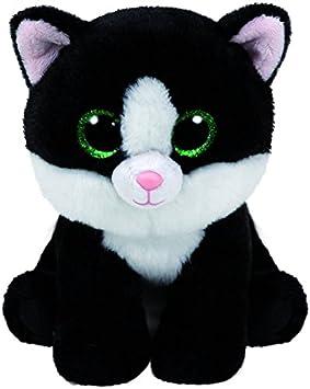 Ty Carletto 90246 – AVA – Gato con Ojos Brillantes, Beanie Classic, 28 cm