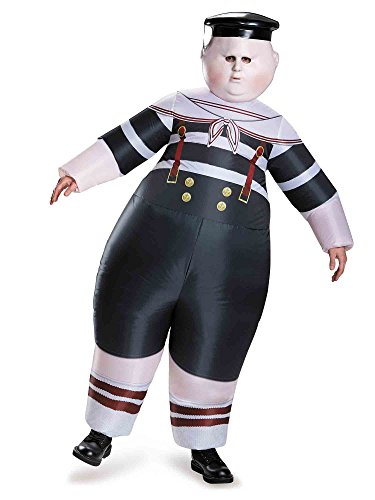 Disney Men's Alice Dum Tweedle Dee Inflatable Costume, Multi One Size -
