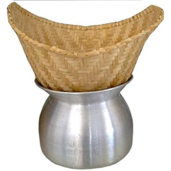 Amazoncom Thai Lao Sticky Rice Steamer Pot and Basket Cook