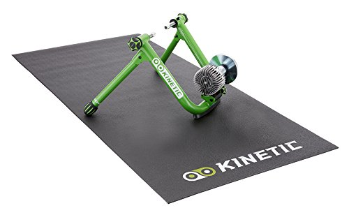 Kinetic Road Machine 2.0 Fluid Trainer, Green and Kinetic by Kurt Floor Mat (Black)