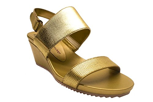 Isaac Mizrahi Live! Womens Aubrey Wedge Sandals, Gold, 8 B(M) US from Isaac Mizrahi Live!