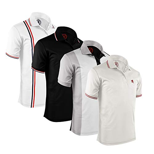 Albert Morris Men Polo Shirt 4 Pack - Stylish Pack, Short Sleeve (X-Large)