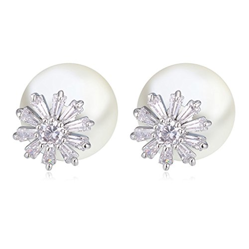 [Simple Pearl Earring AAA Zirconic Stud Earrings] (Homemade Costumes Teenage Girls)