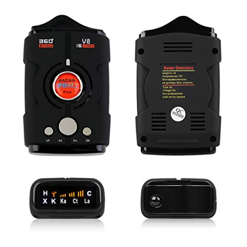 Radar Detectors for Cars, Voice Alert and Speed Alarm System with 360 Degree Detection, City/Highway Mode Radar Detector by AZGGN (Image #5)'