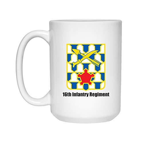 Vintag 16th Infantry Regiment Army Mug | 15 oz Ceramic Mug Cup | Perfect Unique Gift Mug Cup