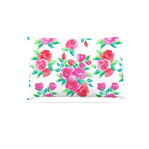 Kess InHouse Anneline Sophia Anemones  Fleece Dog Bed, 50 by 60 , Pink Flowers