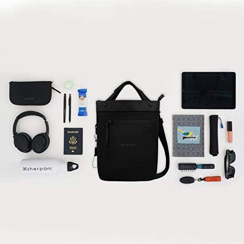 Sherpani Geo, Anti Theft Crossbody Bag, Travel Tote Bag, Medium Shoulder Bag for Women Fits 10 Inch Tablet, RFID Protection