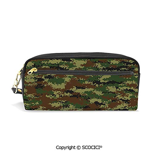 Fasion Pencil Case Big Capacity Pencil Bag Makeup Pen Pouch Grunge Graphic Camouflage Summer Theme Armed Forces Uniform Inspired Dark Durable Students Stationery Pen Holder for - Armed Uniforms Forces