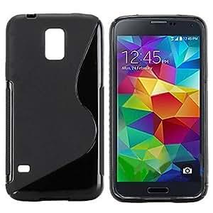 WEV S Shape Tpu Case for Samsung Galaxy S5 I9600 , Blue