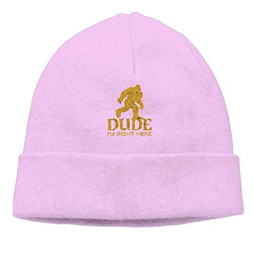 Walnut Cake Gorras béisbol Bigft Sasquatch Dude I'm Right Here Unisex Fashion Beanie Knit Hat Cap ColorKey
