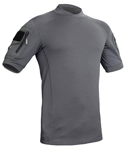 Military Moisture Wicking T-Shirt - Tactical Training Outdoor - Polartec Delta - Frogman Line by 281Z (Graphite, Large) by 281Z