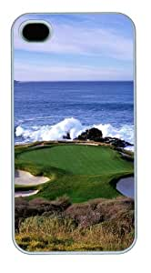 iPhone 4S Case, iPhone 4S Cases - Golf Hole PC case Cover for iPhone 4 and iPhone 4s White