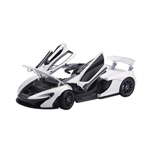 LINGLING Original 1:18 McLaren McLaren P1 Sports Car Model McLaren Alloy Simulation Car Model (Color : White) (1 18 Mclaren P1 Model Car)