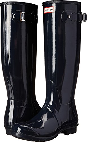 womens hunter rain boots blue - 3