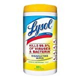 Lysol Toallitas Desinfectantes Citrus Lysol, 80 Toallas Humedas, el empaque puede variar