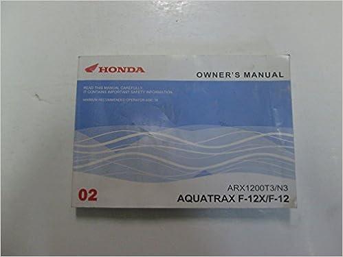honda aquatrax 12x operators manual