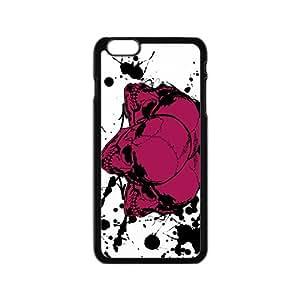 LJF phone case Deep pink ink skulls Phone Case for iPhone 6