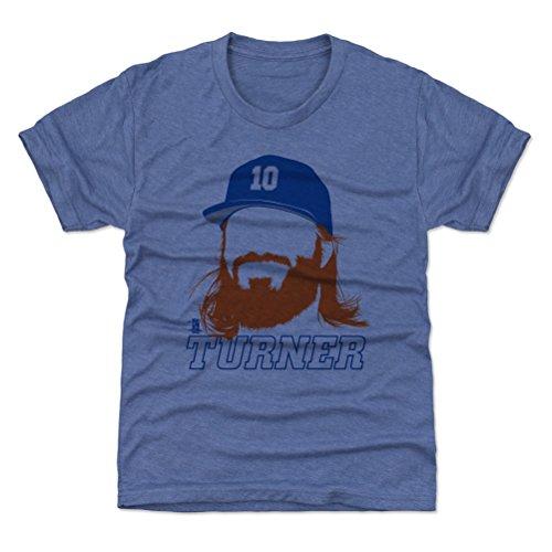 500 LEVEL Los Angeles Baseball Youth Shirt - Kids Medium (8Y) Tri Royal - Justin Turner Silhouette B