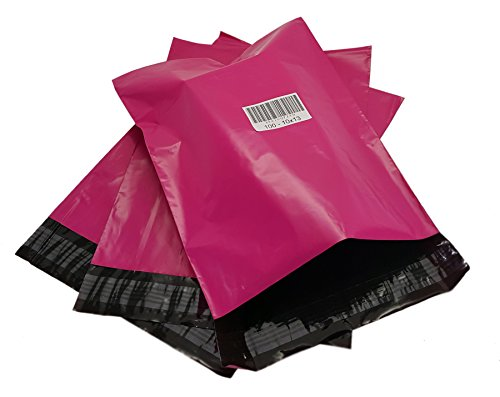 iMBAPrice 100 - New 10x13 (HOT Pink) Color Poly Mailers Envelopes Bags (Total 100 Bags)