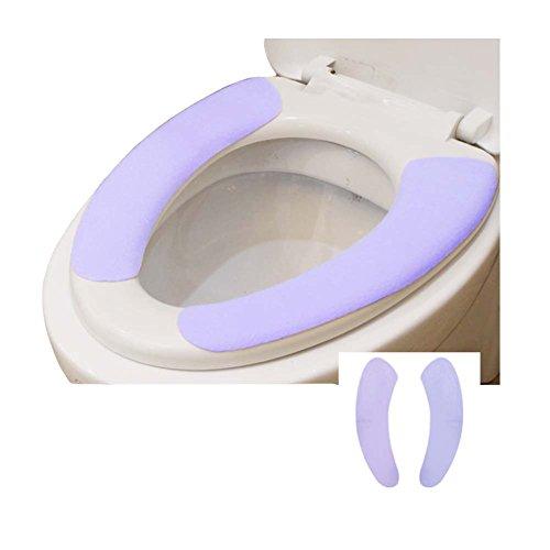 Juego de 8, funda de asiento de inodoro lavable envuelto individualmente caliente suave púrpura