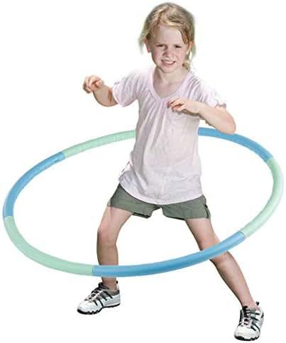 VENSEEN Hula Hoop for Kids, Detachable Adjustable Weight Size Plastic Kid Hoola Hoop, Suitable as Toy Gifts, Hula Hoop Game, Indoor & Outdoor Games, Boys & Girls (1)