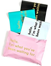 RUSPEPA Poly Mailer Shipping Bag with Self Sealing, Business Text Printed Design, 100 Pack 6 x 9 inches