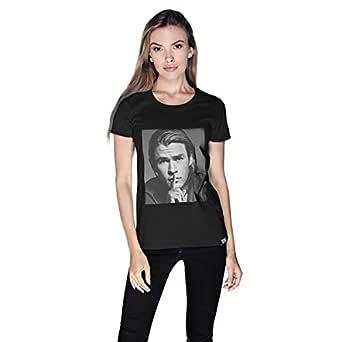 Creo Chris Hemsworth T-Shirt For Women - S, Black