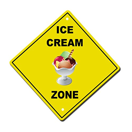 Ice Cream Zone Novelty Sign Vinyl Sticker Decal 8