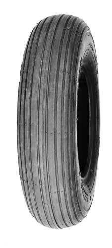 Wheelchair Tires Ribbed (Deli Tire S-379, Ribbed Tread, 4-Ply, Tubeless, Lawn and Garden Tire (3.00-4))