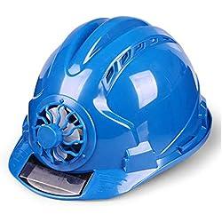 FH Casco De Seguridad, Sitio De Construcción Con Ventilación, Casco De Seguridad De Construcción De Protección Solar, Selección Multicolor (Color : Azul)