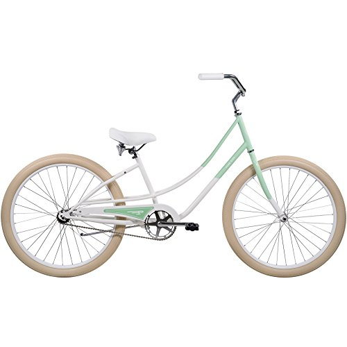 Pure City Women's 1-Speed Cruiser Bicycle, 26″ Wheels/15.5″ Frame, Sydney Mint/White/Cream For Sale