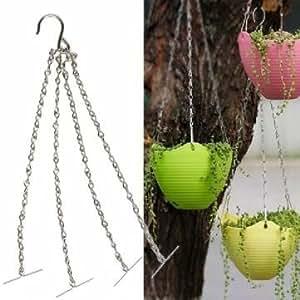 35cm Flowerpot Iron Sling Chain Garden Hanging Basket Replacement Fitting