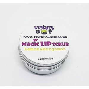 Magic Lip Scrub with Sugar, Lemon&Bergamot Natural&Organic by WitchesPot