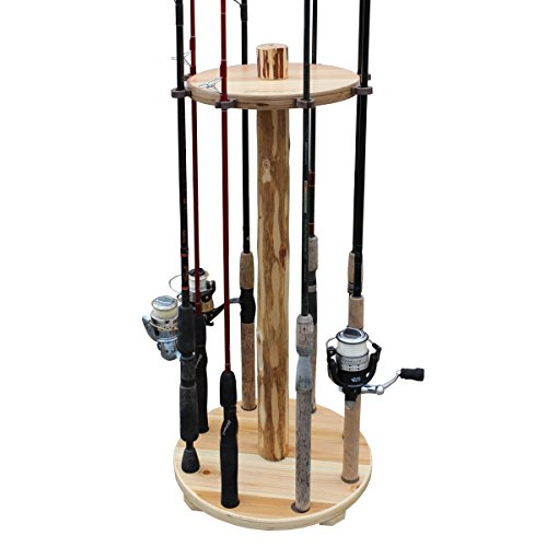 Rush Creek Creations Round 8 Fishing Rod Storage Rack - No Tool Assembly