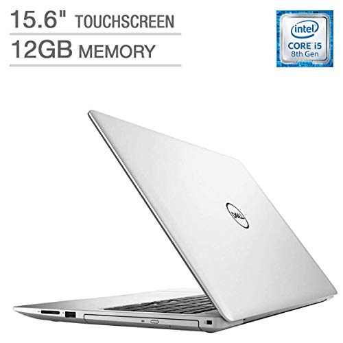"Dell Inspiron 15.6"" FHD Touchscreen Laptop Computer, 8th Gen Intel Quad Core i5-8250U up to 3.40GHz, 12GB DDR4, 256GB SSD + 1TB HDD, DVDRW, AC WiFi+ BT 4.2, USB 3.1, Backlit Keyboard, Windows 10"