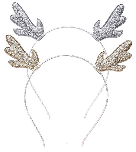 Deer Antlers Reindeer Headband Costume Christmas Halloween Holiday Party ()