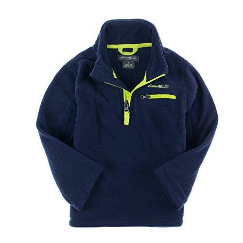 Eddie Bauer Boys 2-7 1/2 Zip Micro Polar Fleece (5, Navy) (Micro Fleece 1/2 Zip Pullover)