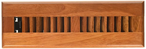 Decor Grates WLC210-N 2-Inch by 10-Inch Wood Floor Register, Natural Brazilian Cherry