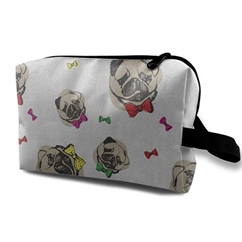 Makeup Bag Cartoon Pug Dog Handy Travel Multifunction Beauty Bags Fantastic Storage for Women