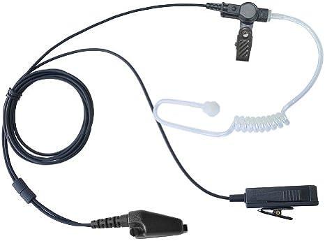 2 Wire Surveillance MIC Earpiece for Kenwood Radio Headset /& Blk Earbud TK-5210