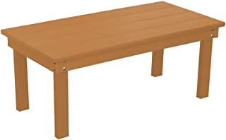 product image for Outdoor Hampton Rectangle Coffee Table - Cedar Poly Lumber - Recycled Plastic