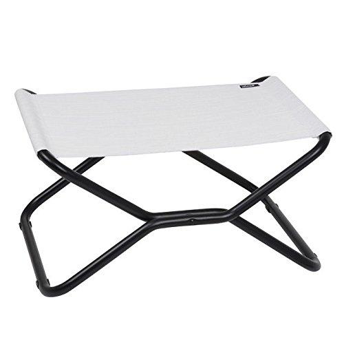 Lafuma Next Folding Footrest/ Stool - Black Steel Frame with (Batyline Natural)