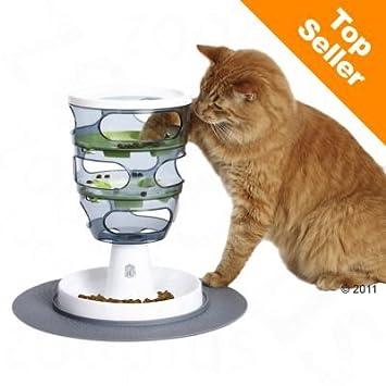 Wangado – Juego para gatos con pienso Hagen Catit, diseño de laberinto, ¡dispensador de pienso y ...