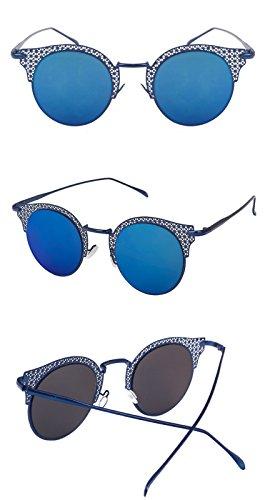 Miroir de bleu soleil soleil de Blue de Femmes Bord Femmes Lunettes Hommes Lunettes Lens Lunettes DESESHENME lunettes soleil de Vintage soleil de dame Lunettes dOwd7t1qx