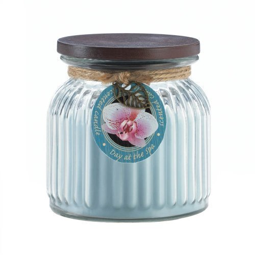 Zingz and Thingz Day At Spa Ribbed Jar Candle