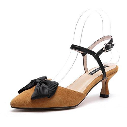 Balamasa Sandals Fashion Avvolgere Freddo In Asl04539 Caviglia Con La A Albicocca Womens Uretano Fibbia Sandali Chiusura Fodera Nubuck Chiusa Punta Alla SrqwS5B
