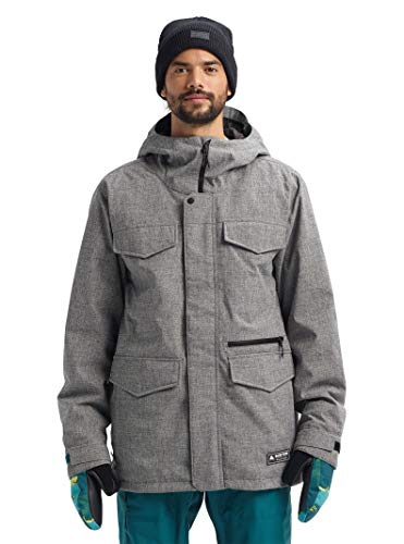 Cheap Burton Mens Covert Jacket, Bog Heather New, Large snowboard jackets